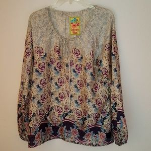 Johnny Was silk women blouse, size S, O163
